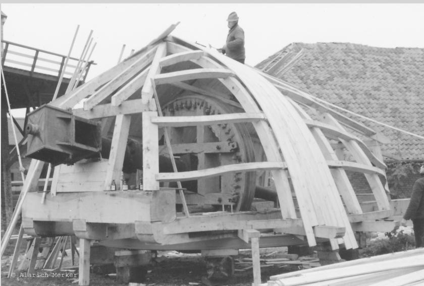 Wiederaufbauarbeiten Seefelder Mühle